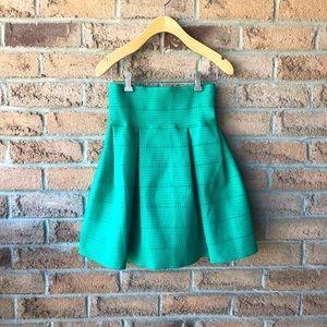 H&M | Green sumnmer circle skater mini skirt